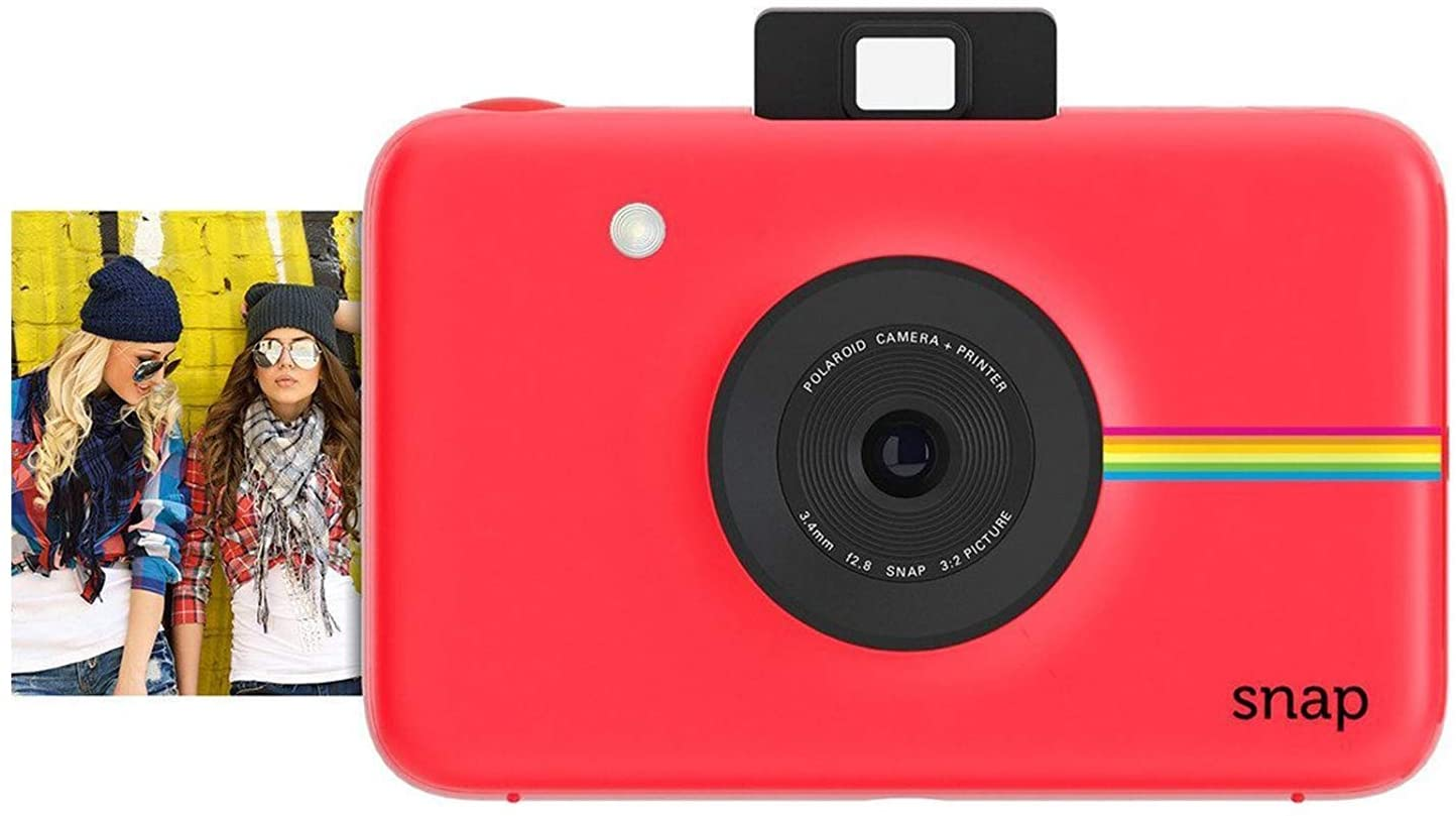 Polaroid Instant Release Digital Camera with Zink Zero Ink Printing Technology, Red