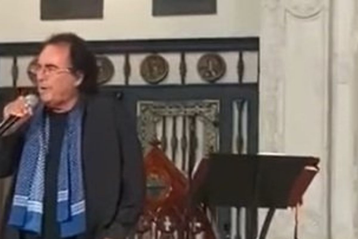 al bano canta in chiesa
