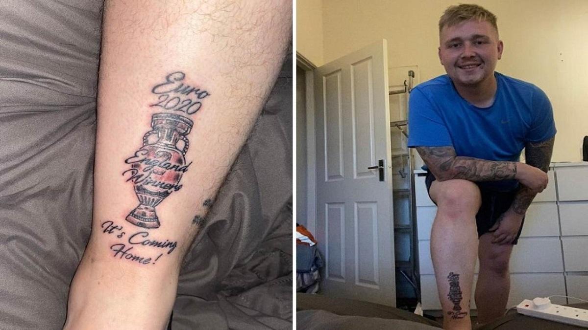 Il tifoso inglese che si è tatuato la coppa degli europei dichiara