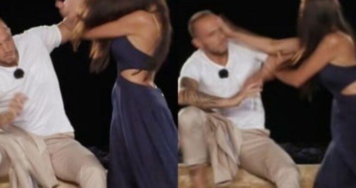 Manuela e Stefano Temptation Island: lei lo picchia durante il falò
