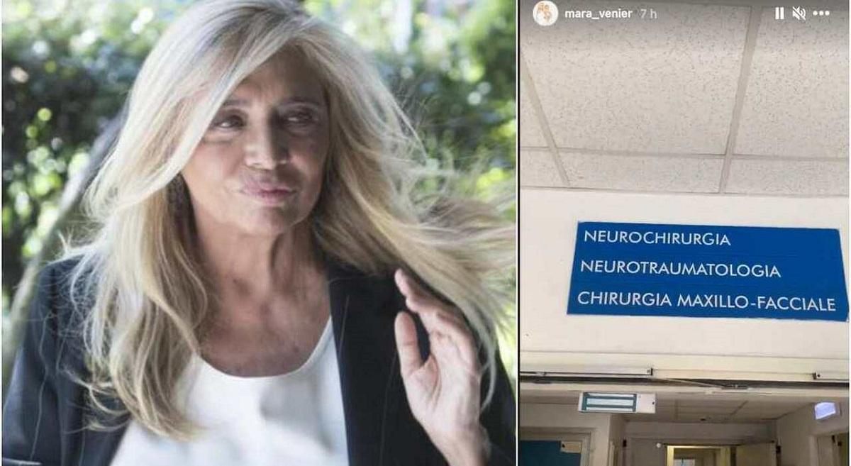Mara Venier ancora nel reparto di chirurgia