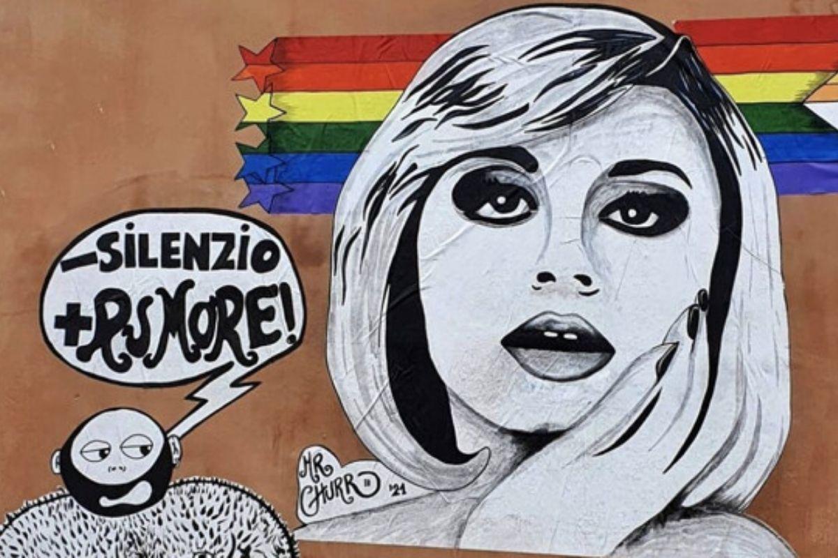 Raffaella Carrà murales