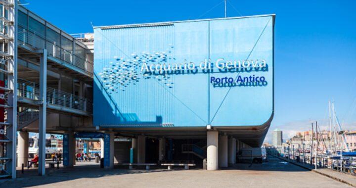Acquario di Genova cane legato