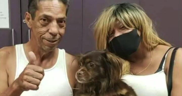 Il cagnolino Payday riabbraccia la sua famiglia dopo due lunghi anni