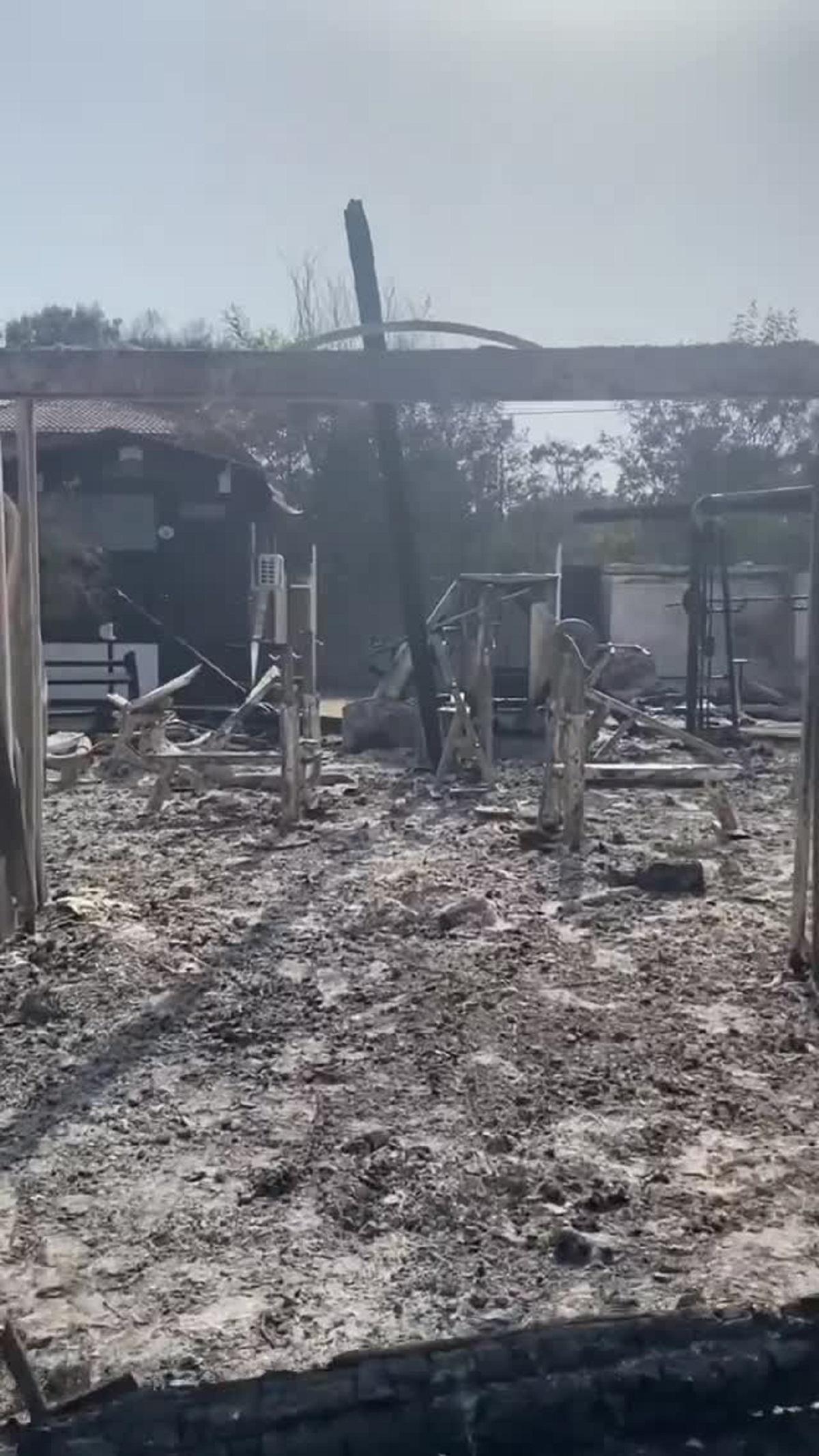 stabilimento balneare distrutto