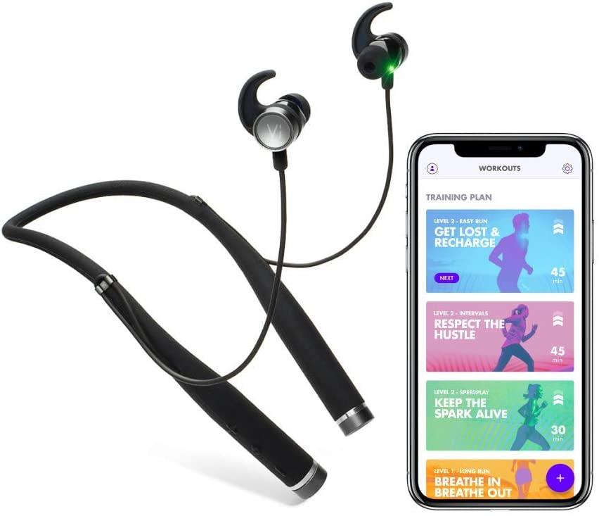 AI Fitness Coach Audio con Advanced in-Ear frequenza cardiaca di Vi