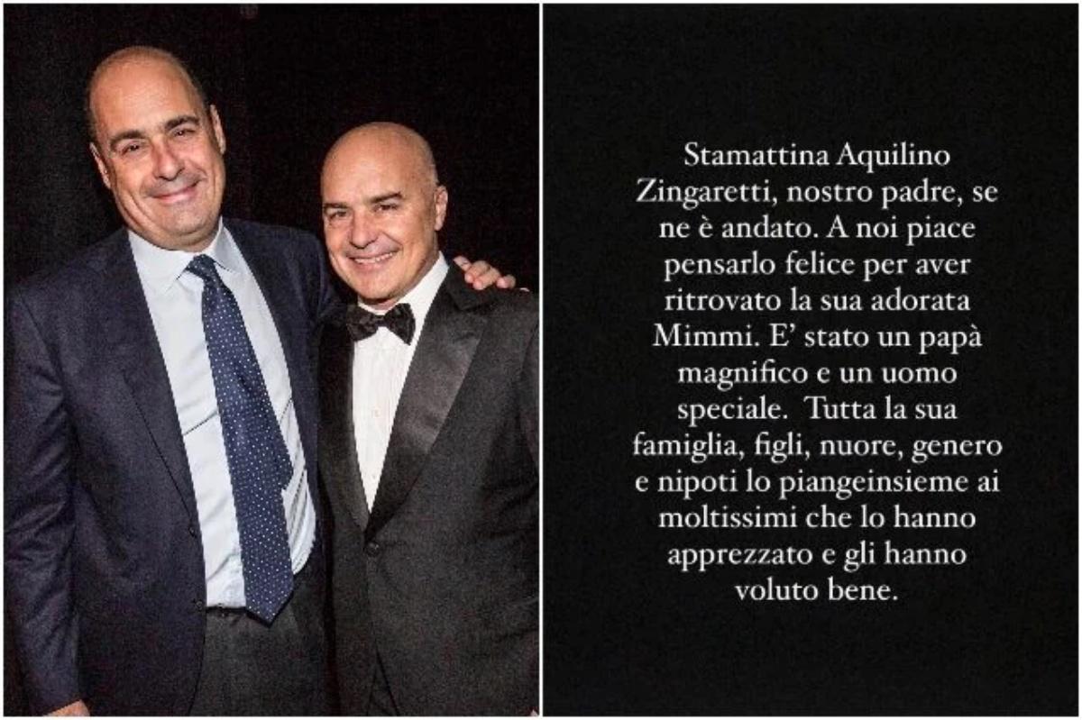 Se ne è andato per sempre Aquilino Zingaretti