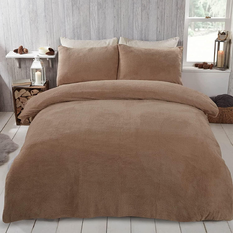 Brentfords - Set di biancheria da letto in pile con federa
