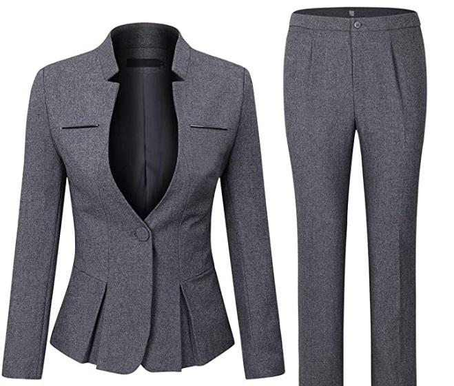 Completo tailleur da donna, 2 pezzi, Slim Fit Yynuda