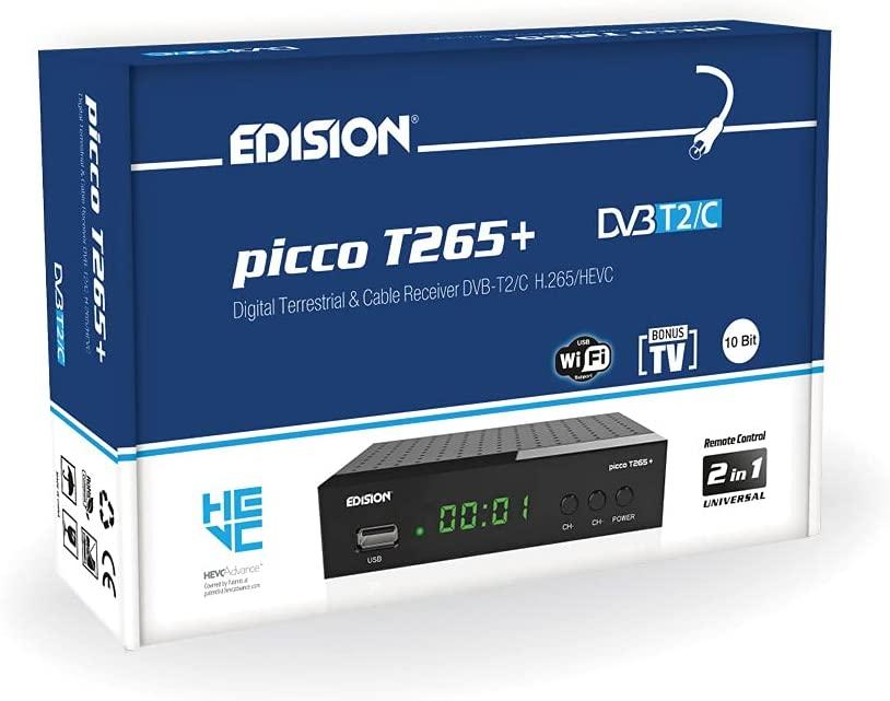 EDISION PICCO T265+ Ricevitore Digitale Terrestre Full HD