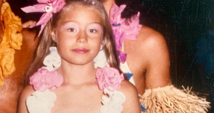 Elenoire Casalegno e le foto da bambina