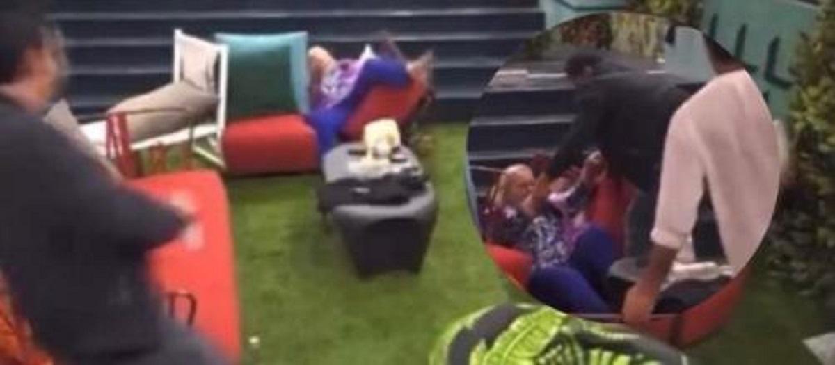 katia ricciarelli falls from the chair