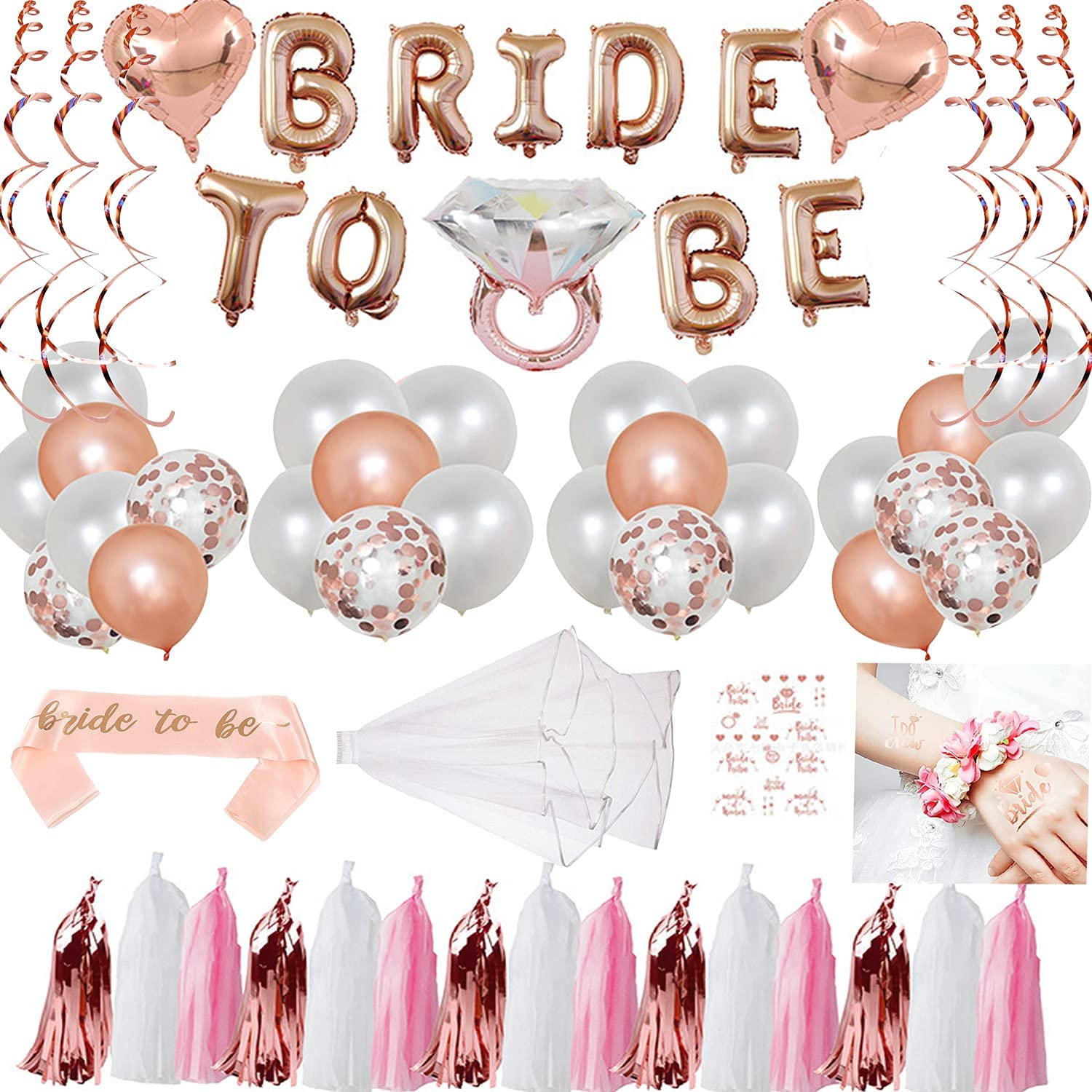 Bachelorette party gadget with balloons and banners