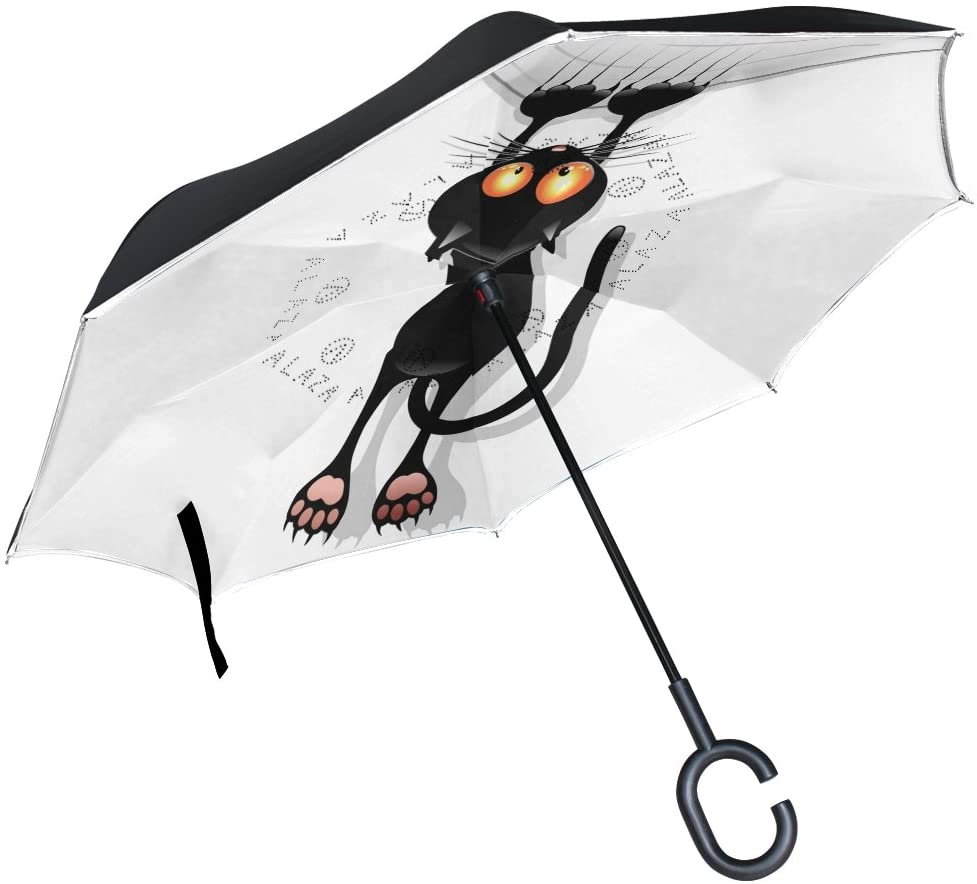 Isaoa ombrello invertito grande antivento doppio strato