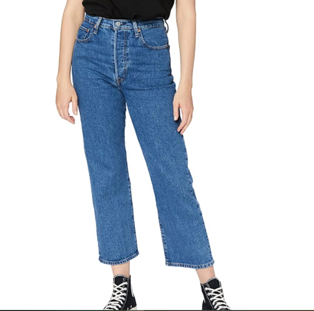 Levi's Ribcage Straight Ankle Jeans Donna