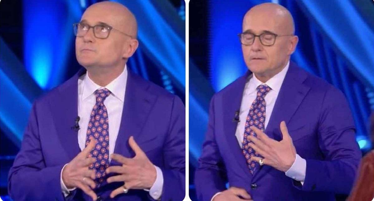 GF Vip, Alfonso Signorini sgrida Amedeo Goria in diretta Tv