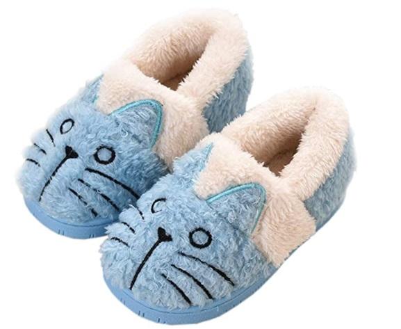 Pantofole di caldo cotone per l'inverno modello slipper con simpatici animaletti