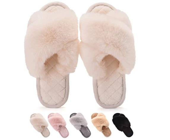 Gainsera pantofole in peluche da donna invernali comode e morbide, con antiscivolo