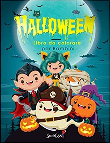 Halloween - Libro da colorare per bambini: più di 50 divertenti pagine da colorare con streghe, zucche, vampiri, scheletri