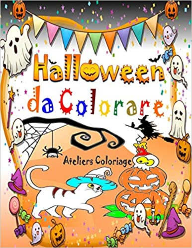 Halloween da colorare: Libri Halloween per bambini da 4 anni con una collezione di 40 immagini