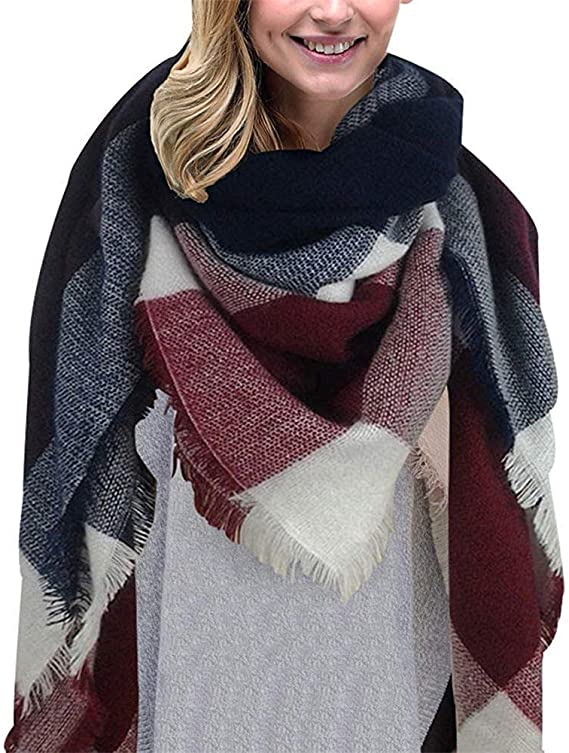 Heekpek sciarpa avvolgente con nappe morbida da usare anche come scialle o stola