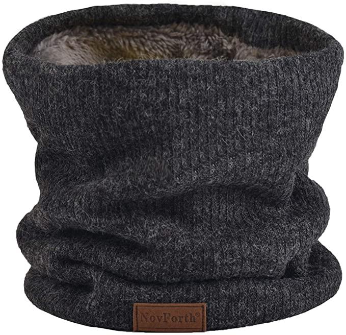 NovForth scaldacollo caldo e morbido a due strati in maglia e peluche