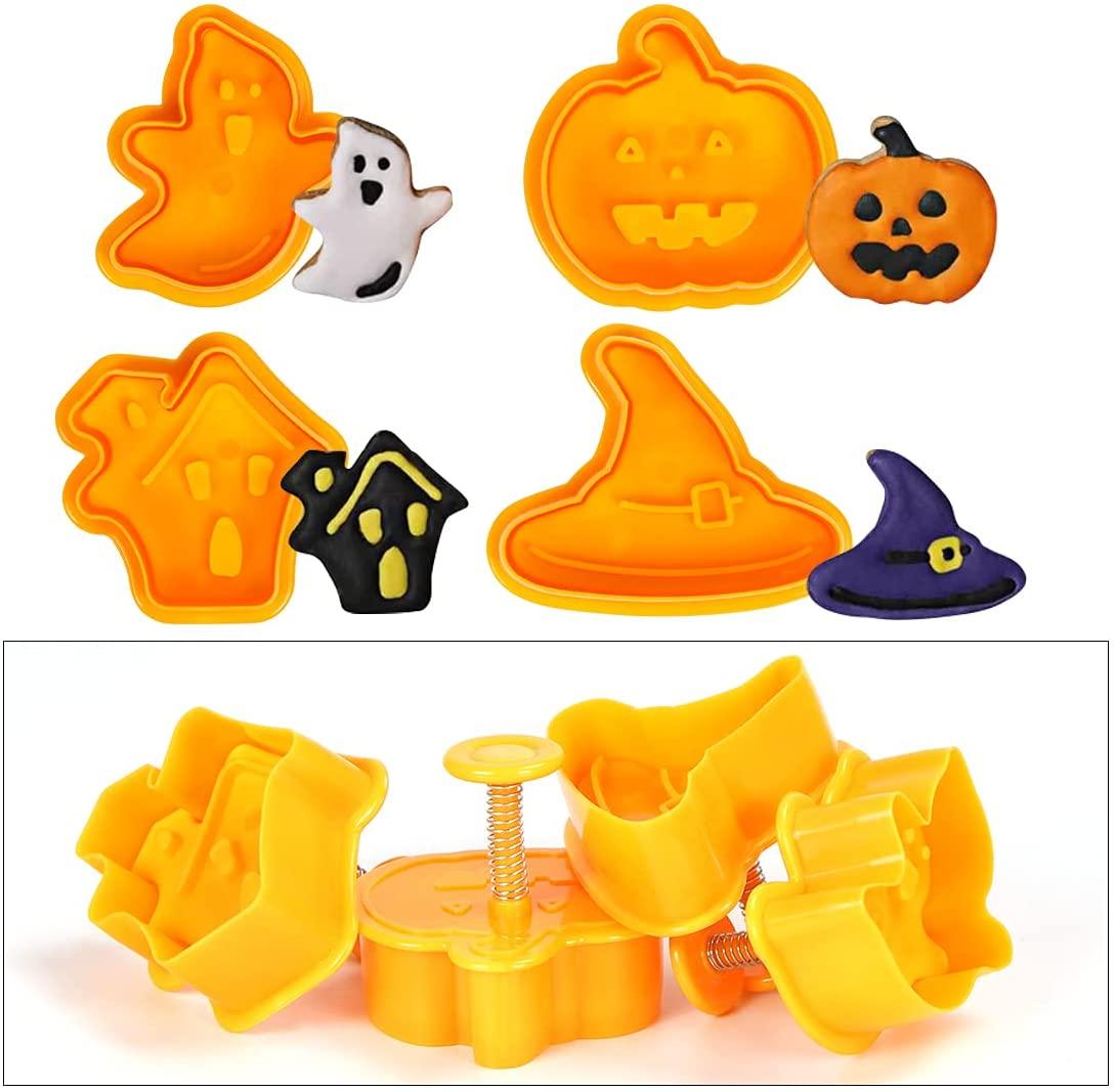 Quattro formine per biscotti di Halloween 3D