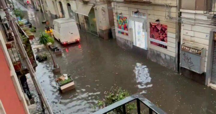 Nubifragio a Catania