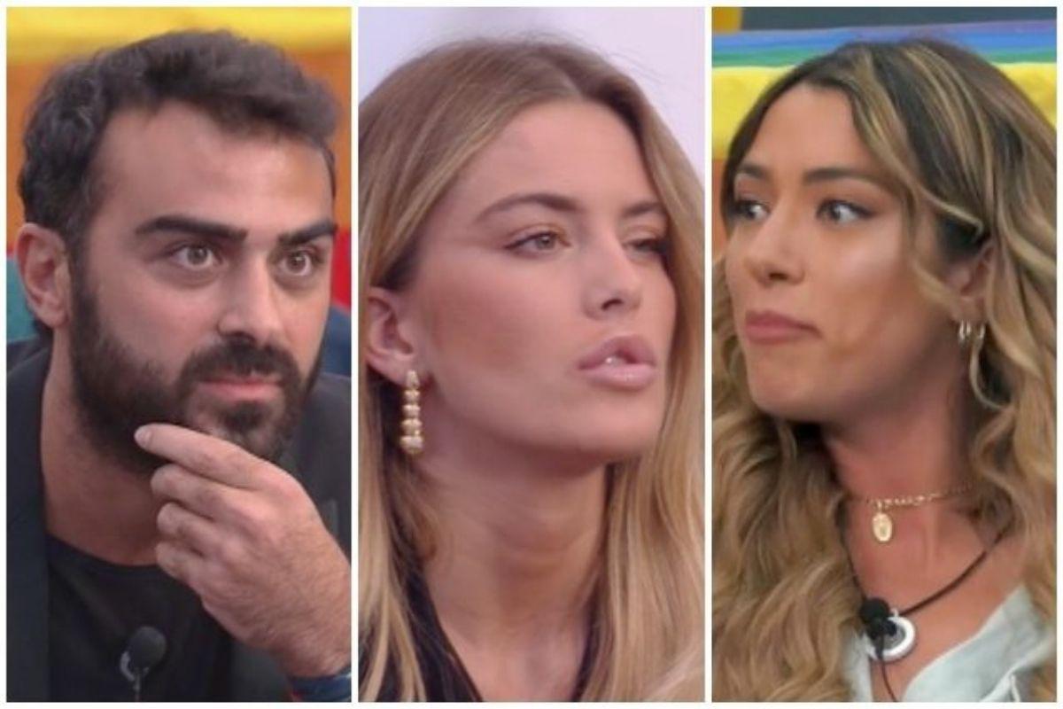 Sophie Codegoni, Soleil Sorge e Gianmaria Antinolfi GF Vip
